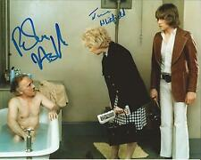 Hand Signed 8x10 photo JUNE WHITFIELD and ROBIN ASKWITH - CARRY ON GIRLS + COA