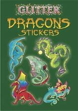 Dover Little Activity Books Stickers Ser.: Glitter Dragons Stickers by...
