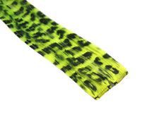 "CLIP-IN 12"" HAIR EXTENSION NEON YELLOW LEOPARD EMO"