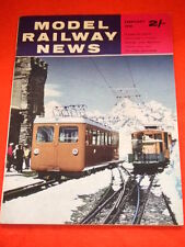 MODEL RAILWAY NEWS - FEB 1961 - KINDEN VALLEY TRAMWAY