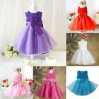 Flower Baby Girls Princess Bow Dress Toddler Wedding Party Pageant Tulle Dresses