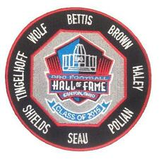 2015 Pro Football Hall of Fame Patch Bettis Brown Haley Seau Wolf Shields Polian