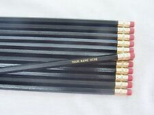 "24 Hexagon ""Black"" Personalized Pencils"