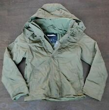 New Abercombie & Fitch Mens Green Nylon Hooded All Season Jacket Coat Large