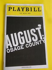 May 2008 - Music Box Theater Playbill August: Osage County - A. Morton -w/ticket