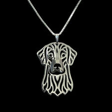 ❤️ Halskette mit Anhänger Flat-Coated Retriever, Hundekopf, Necklace, pendant