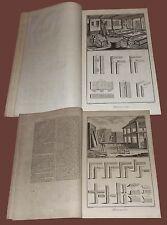 Menuisier en Batimens - Falegnameria Diderot et D'Alembert 38 Tav. 1772 Finestre