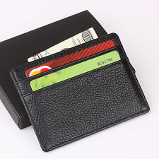 Classics Slim Mini Wallet 100% Genuine Cow Leather Credit Card Case Men Holder