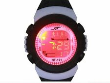 New Digital Multi-Function Color Show Children/Youth Sport Watch-Black/White-USA