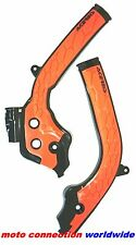 NEW ACERBIS X-GRIP FRAME GUARDS BLACK ORANGE 2017 KTM 250 EXC 300 EXC