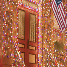 LED Solar-Powered Fairy Lights - Red/White/Blue * Holidays, Christmas*Outdoor