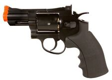 Phoenix CO2 Airsoft Revolver 2.5 Barrel Black Full Metal 6-shot airsoft revolver
