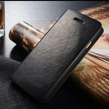 Genuine Leather Wallet Case Card holder FlipCover for iPhone 5 6S 7 Plus Samsung