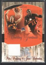 MIKE DUNLEAVY 2004/05 FLAIR COURTING GREATNESS JERSEY JASON RICHARDSON SP $12