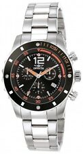Mens Invicta 1245 Specialty Swiss Chronograph Black Dial Stainless Steel Watch