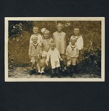 CHILDREN OUTDOOR & TEDDY BEARS / KINDER & TEDDYBÄREN * Vintage 20s Photo PC