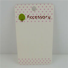 50PCS Paper Hair Clip Hanging Card Jewelry Holder Display Packaging Cards