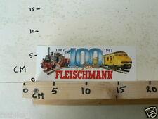 STICKER,DECAL FLEISCHMANN 1887-1987 100 JAAR FLEISCHMANN TREINEN TRAINS