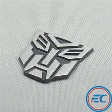 "PVC Chrome Transformers ""Autobot"" Sticker Car Decoration 3D Emblem Autobots Logo"