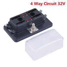 DC32V 4 vías terminales circuito Coche Auto Barco Hoja Caja de fusible bloque titular ATC ATO