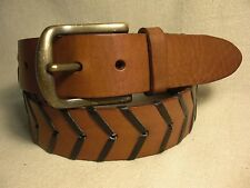 St John's Bay Mens Brown Genuine Leather Belt Size 36 NWT $25