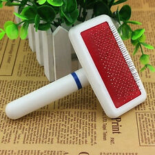 Puppy Pet Dog Cat Hair Shedding Grooming Trimmer Fur Comb Brush Slicker Tool New