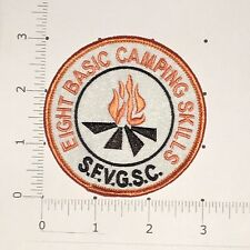 Eight Basic Camping Skills Patch - SFVGSC San Fernando Valley Girl Scouts CA