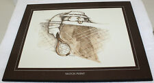 Thought Factory 733 Gary Patterson Match Point 8x10 Wood Plaque Print Tennis Art