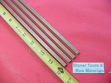 "4 Pieces 1/4"" x 1/4"" C360 BRASS SQUARE BAR 12"" long Solid .250"" Mill Stock H02"