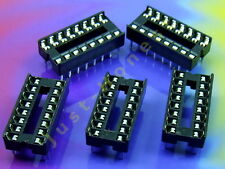 Stk. 5 x DIP 16 IC SOCKEL / SOCKET #A325