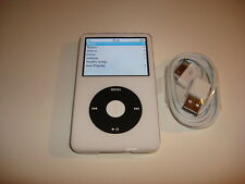 APPLE  IPOD  VIDEO  5.5 GEN.  CUStOM  WHITE  THIN  60GB...NEW  HARD DRIVE...