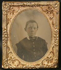 AMBROTYPE YOUNG BOY WITH BOWTIE
