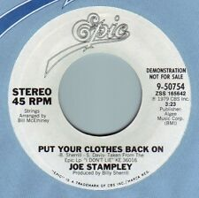 JOE STAMPLEY Put Your Clothes Back On ((**NEW UNPLAYED DJ 45**)) from 1979