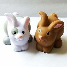 2x Little People Fisher-Price Farm Animal Friends Bunny Rabbit Kids Toys QA247