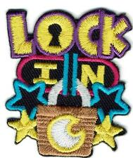 Girl Boy LOCK IN OVERNIGHTER Patches Crests Badges SCOUTS GUIDES party stay