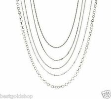 Assorted Set of 5 Chain Necklace Stainless Steel by Design QVC J284657