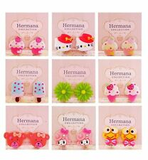 9 Pairs Lot of Cute Kawaii Clip-On Earrings for Kids Girls Children Women Gift