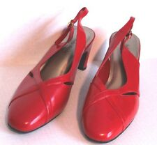 SOFT STYLE Ladies Size 11EW Red Slingback Shoes  by Hush Puppies UK 9W Euro 43W