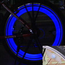 Bike Light Bicycle Cycling Spoke Wire Tire Tyre Silicone LED Wheel Blue LED Ligh