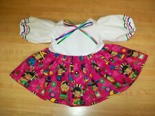"16-17"" CPK Cabbage Patch Kids LAS NINAS PRINT DRESS 6 SOUTH OF THE BORDER GIRLS"