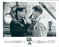 1992 Actor Gabriel Byrne & Brad Pitt in Cool World Press Photo