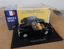 ATLAS Editions SIMCA 8 SPORT CLASSIC SPORTS CARS gamma in Scatola