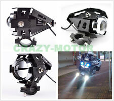 Motorcycle Metal Black LED Spot Work Driving Fog Light Crash Guard Bar Mount New