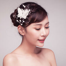 Handmade Butterfly Rhinestone Beads Hair Clip Wedding Party Hair Accessories