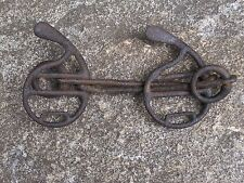 Antique Hand Forged Iron Horse Bit Rare Old Horse Tack Carriage