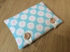 Handmade Kindle Fire HD 6 Padded Case - Clarke and Clarke Daisy Aqua Fabric