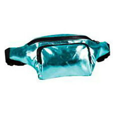 80's Style High Shine Bum Bag - 80's Fancy Dress - Turquoise