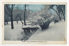 Winter View, Orchard at GERMANIA PA Vintage Potter County Pennsylvania Postcard