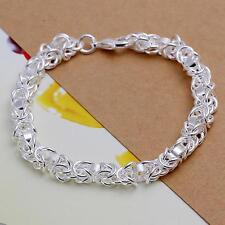 beautiful Fashion 925 sterling silver Plated circle women cute bracelet H73