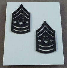 US Army Subdued Collar Rank Insignia Command Sergeant Major E-9 / NOS Pair